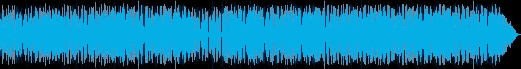 ノリのいいラテン風ポップスの再生済みの波形
