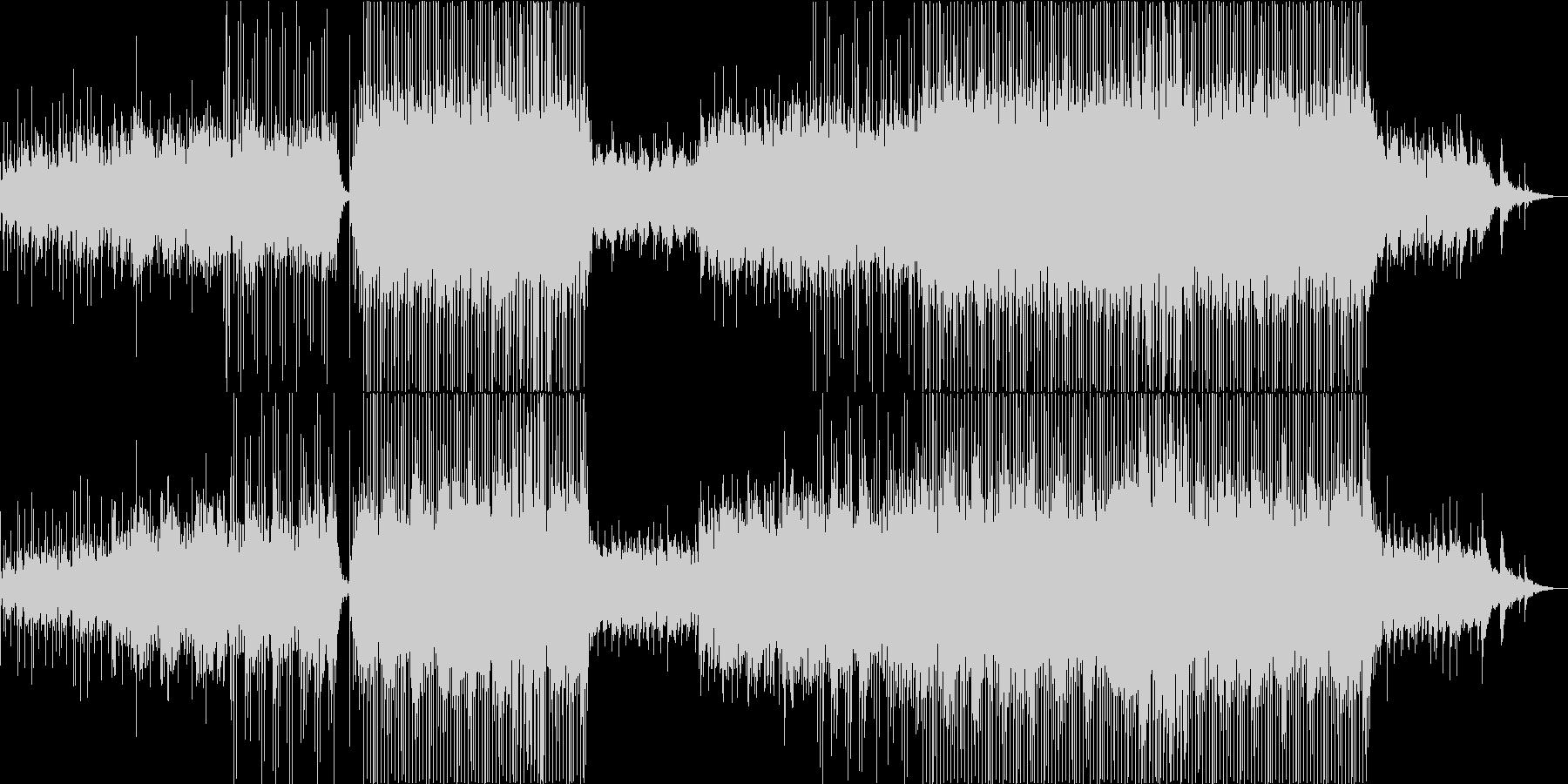 爽やかな優しいピアノの旋律を乗せたEDMの未再生の波形