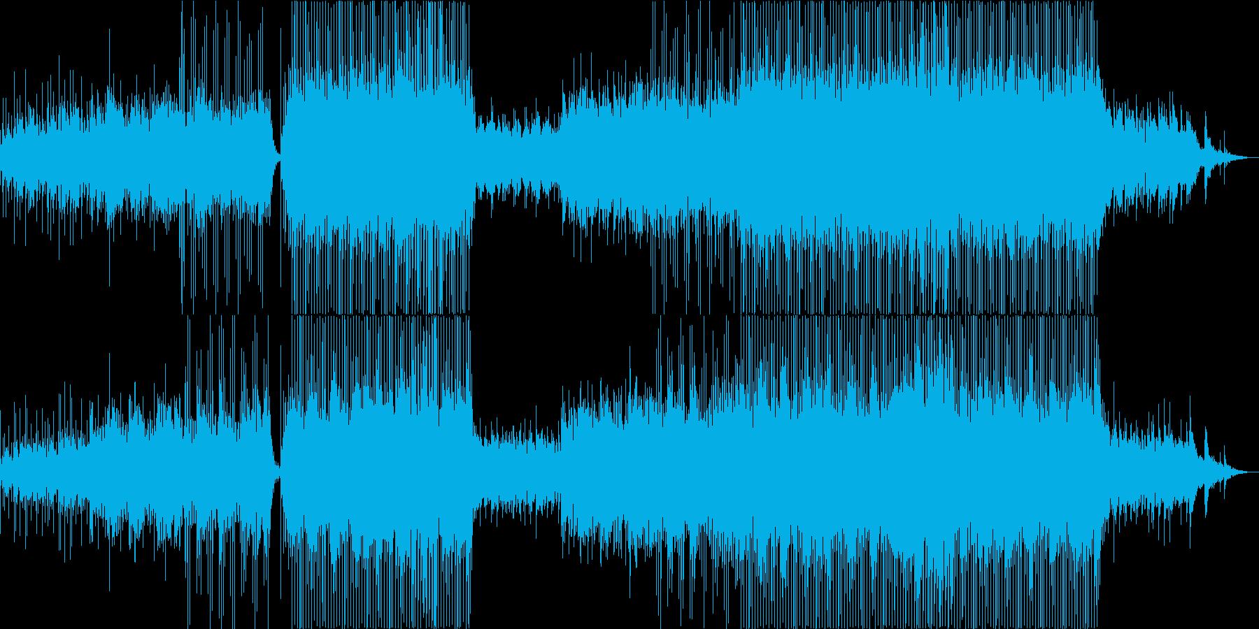 爽やかな優しいピアノの旋律を乗せたEDMの再生済みの波形