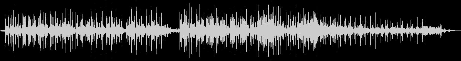 静かなピアノ曲3拍子 雨の音と効果音の未再生の波形