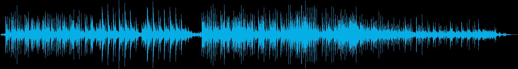 静かなピアノ曲3拍子 雨の音と効果音の再生済みの波形