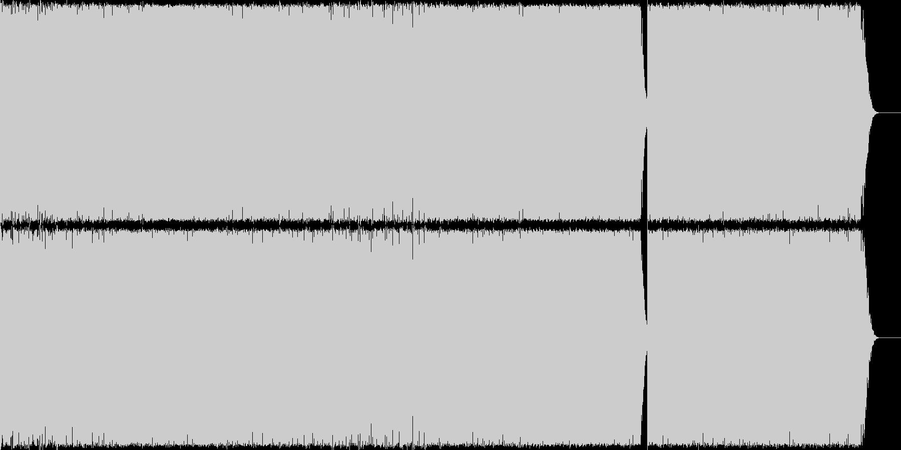 勢いのあるEDMの未再生の波形