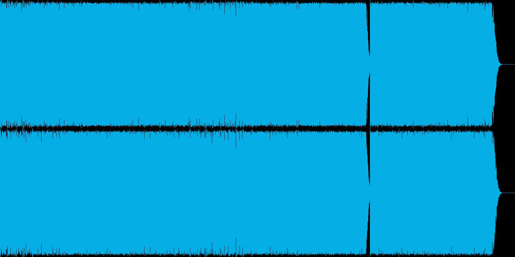 勢いのあるEDMの再生済みの波形