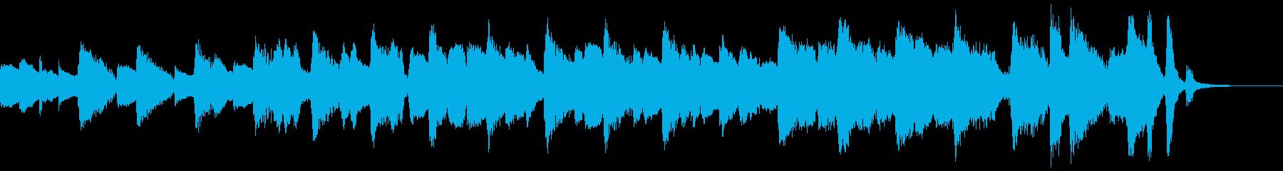 30秒/ピアノとフルート軽快なフレーズの再生済みの波形