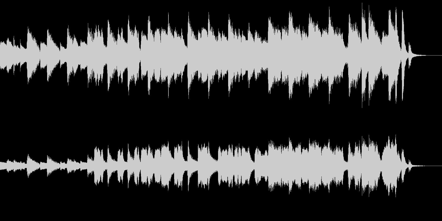 30秒/ピアノとフルート軽快なフレーズの未再生の波形