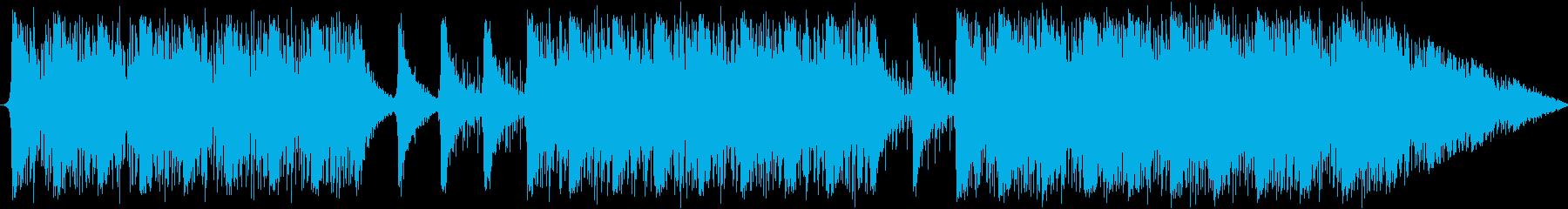 追跡シーン等のようなパーカッションの曲の再生済みの波形