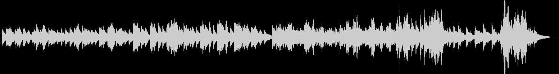 決戦前夜をイメージしたピアノBGMの未再生の波形