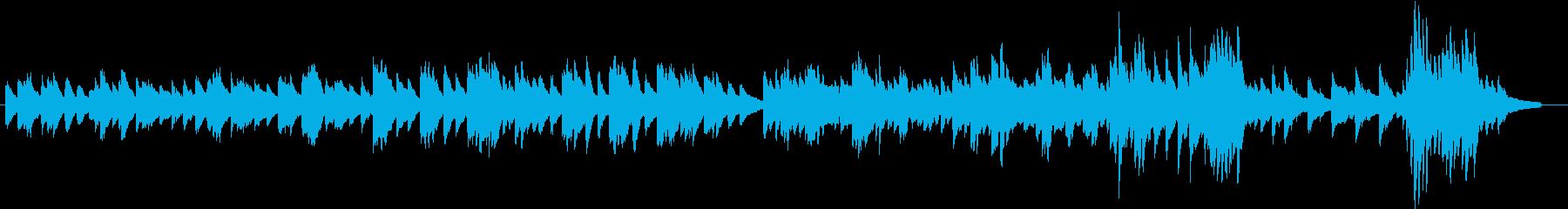 決戦前夜をイメージしたピアノBGMの再生済みの波形