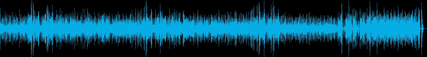 ウクレレとパーカッション、ほのぼのな歌の再生済みの波形