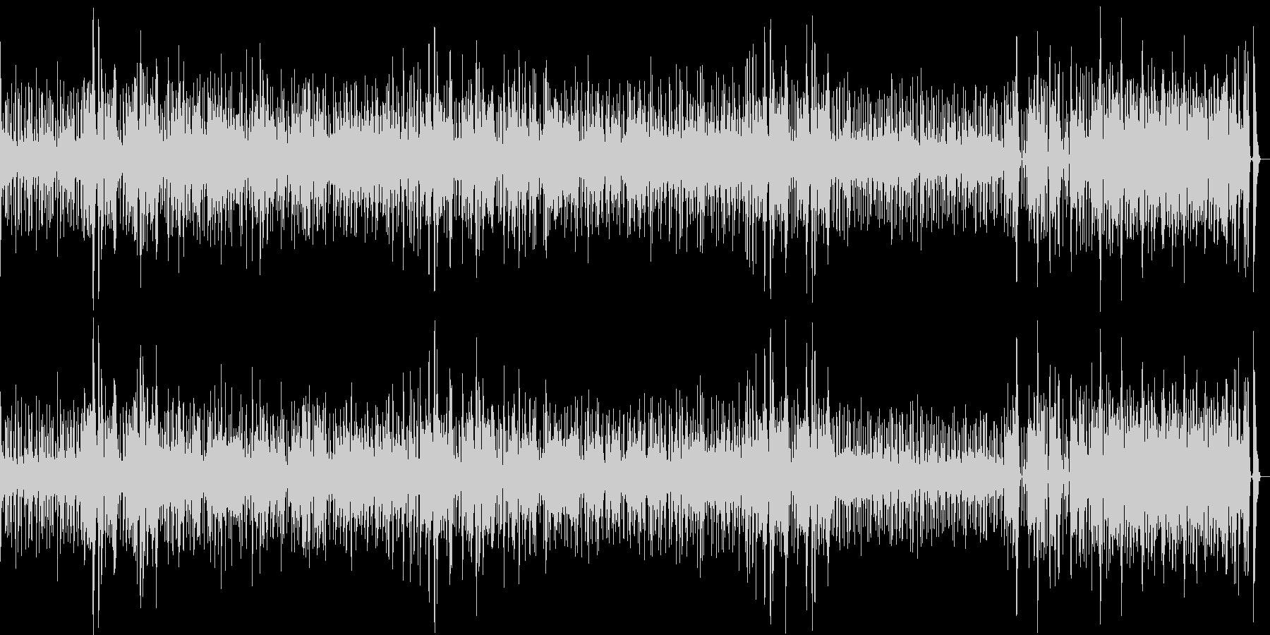 ウクレレとパーカッション、ほのぼのな歌の未再生の波形