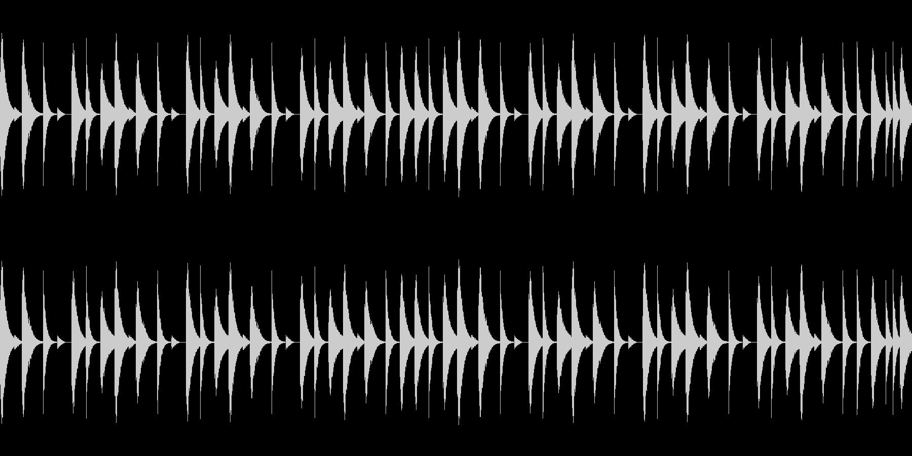 808音源を使用したシンプルなリズム04の未再生の波形