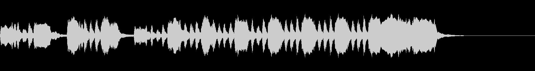 シンプルなオープニングファンファーレ3の未再生の波形
