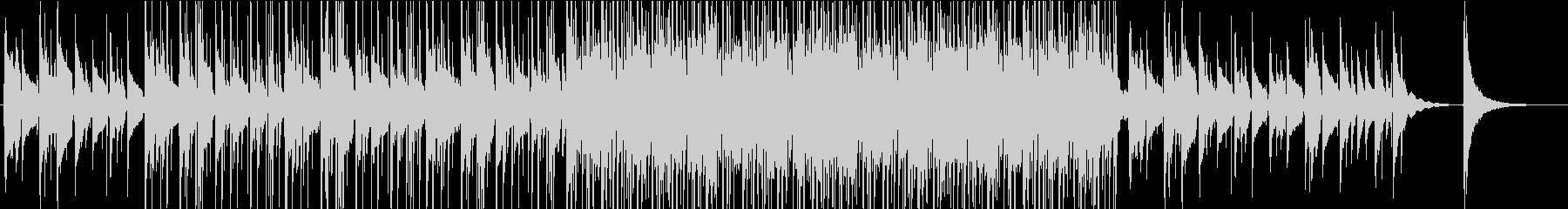 ピアノとギターの切ないセピア調BGMの未再生の波形