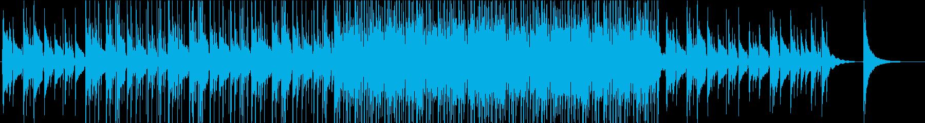 ピアノとギターの切ないセピア調BGMの再生済みの波形