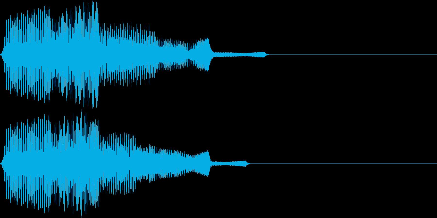 ビコーン(click_045_ボタン)の再生済みの波形