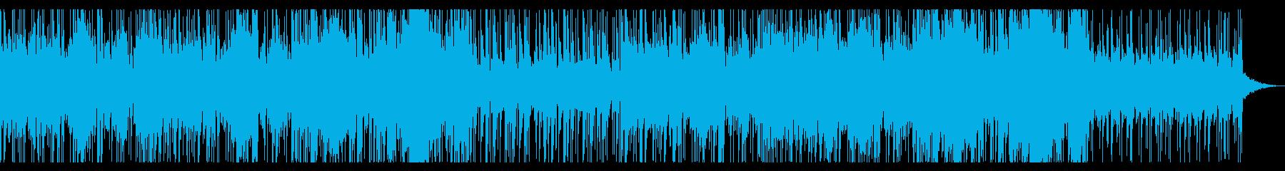 番組BGMや紹介動画向けの爽やかな音楽の再生済みの波形