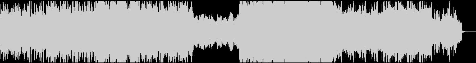 オーケストラとオルガンによる荘厳な序曲の未再生の波形