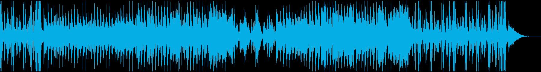 アップテンポでカッコいいピアノ曲の再生済みの波形