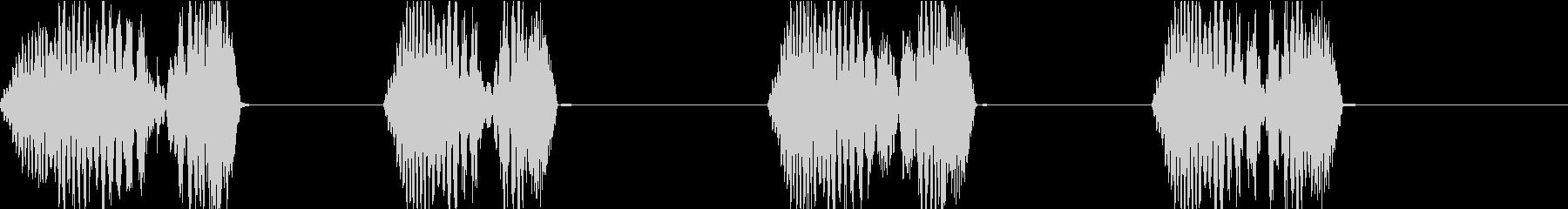 DJプレイ スクラッチ・ノイズ 164の未再生の波形