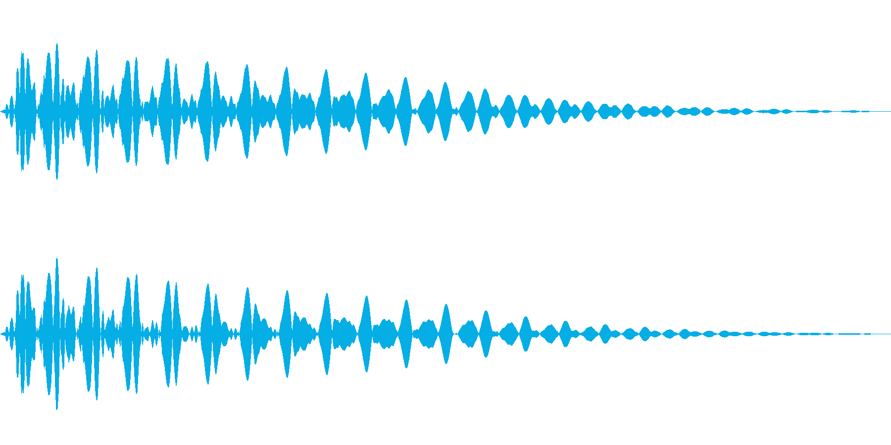 PureTouch アプリ用タッチ音67の再生済みの波形