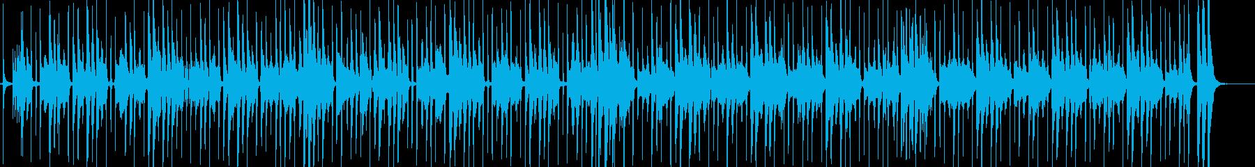 軽快なチャチャチャのリズムの明るい歌の再生済みの波形