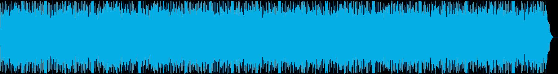 小気味良いサウンドのシンセサイザー曲の再生済みの波形