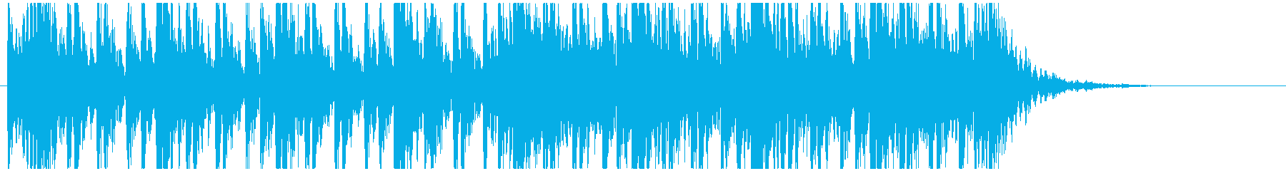 和太鼓のフレーズ3 残響なしの再生済みの波形
