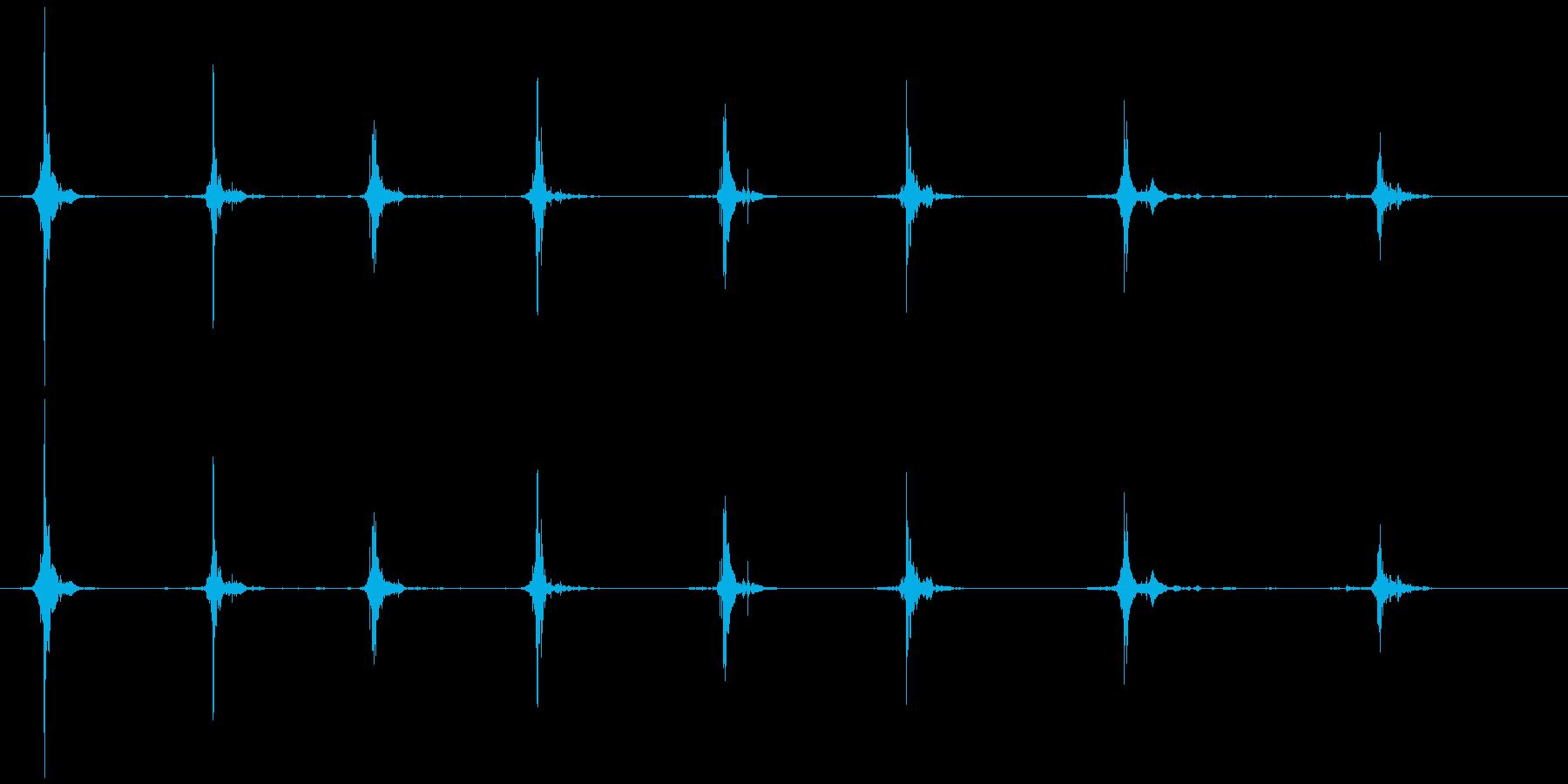 鳥 翼フラップ05の再生済みの波形