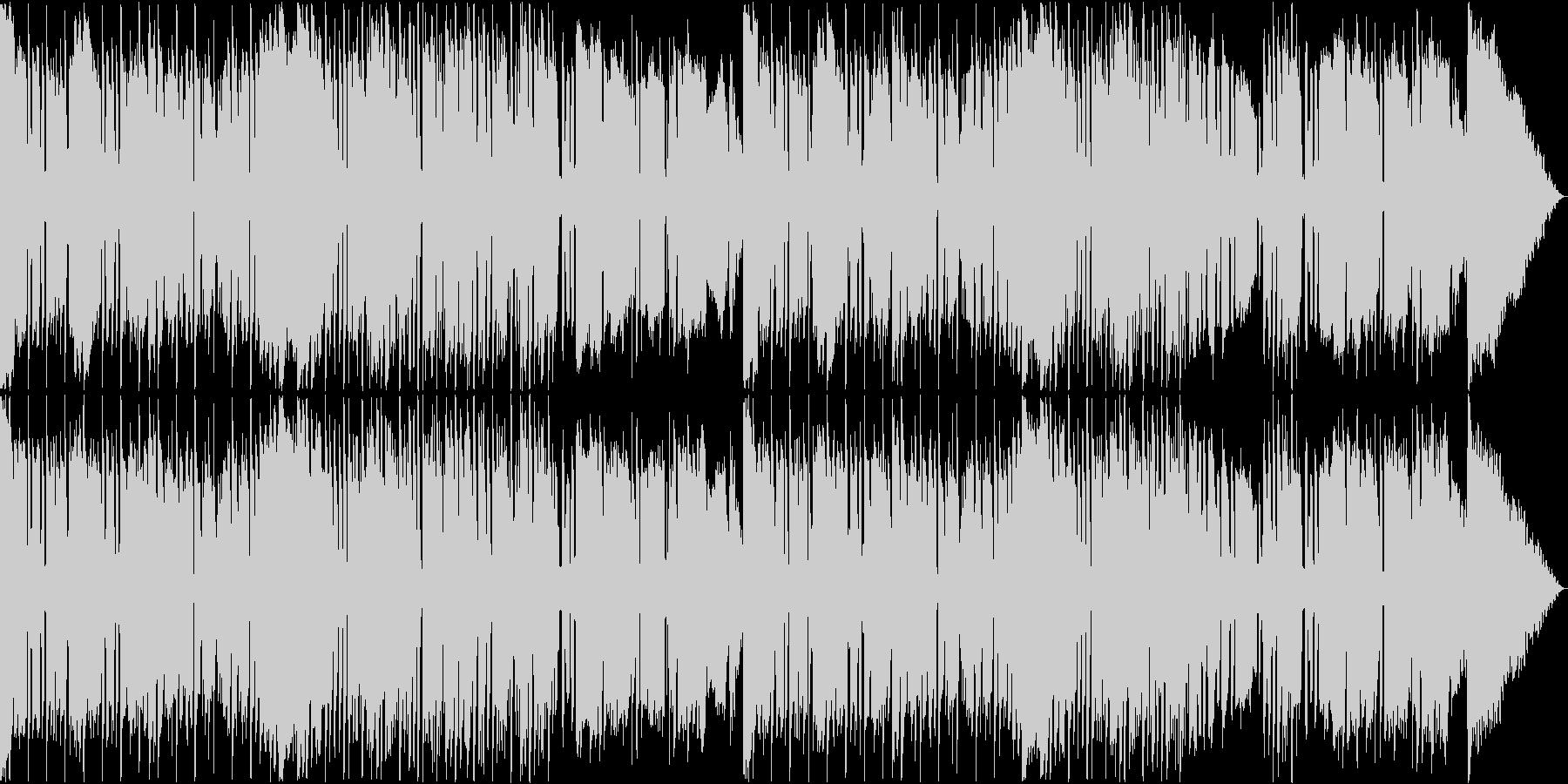 風変わりなベースが特徴的なレゲエ風音楽の未再生の波形
