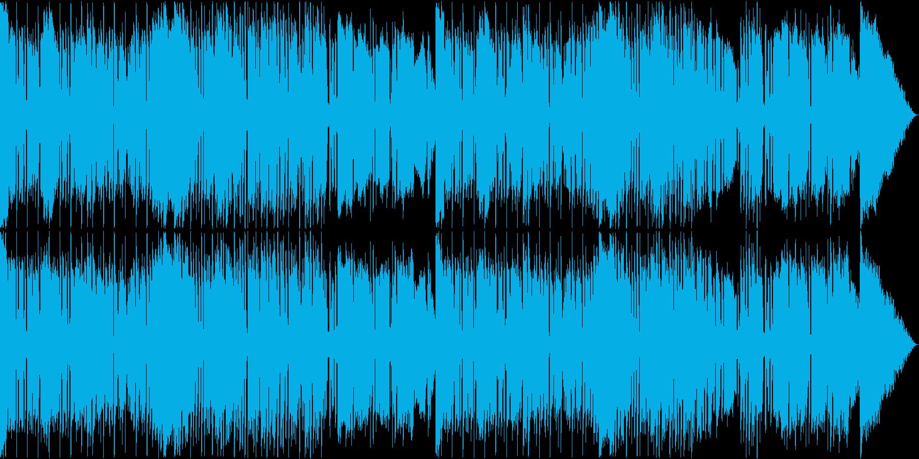 風変わりなベースが特徴的なレゲエ風音楽の再生済みの波形