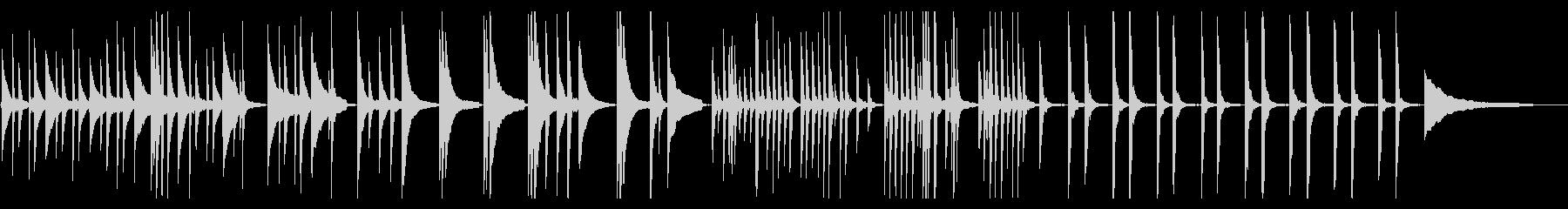 澄んだピアノ 優美で癒し、ほのぼの映像にの未再生の波形