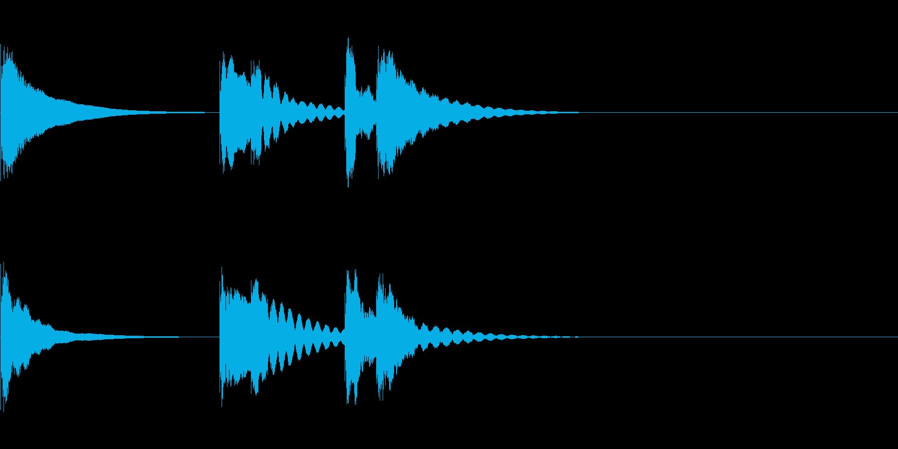 「手がすべった!」時の木琴ジングルの再生済みの波形