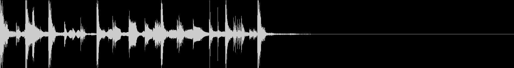 オープニングのエレクトロジングルの未再生の波形