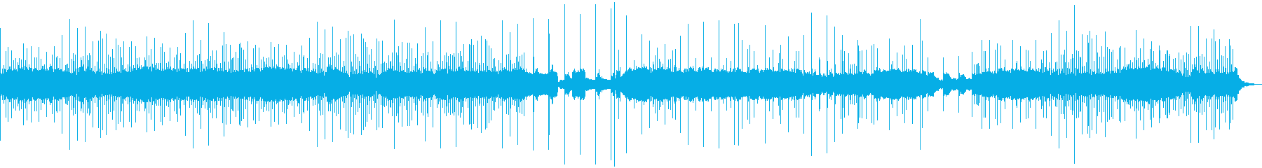 ゲームのステージBGM(森林系)の再生済みの波形