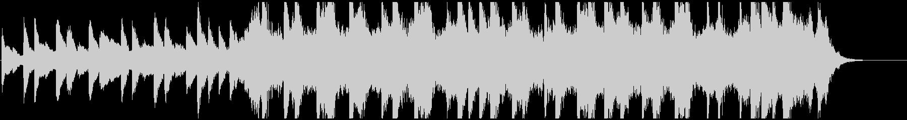 ピアノと弦楽器の悲しいワルツ約30秒の未再生の波形