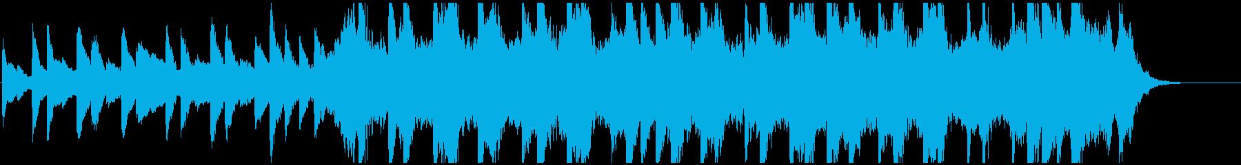 ピアノと弦楽器の悲しいワルツ約30秒の再生済みの波形