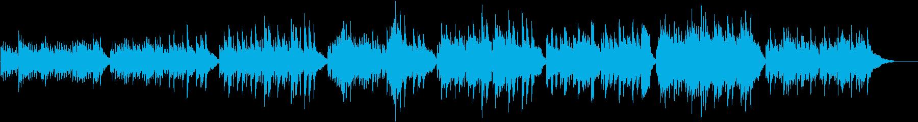 サスペンスホラー映像に合う怪しげなワルツの再生済みの波形
