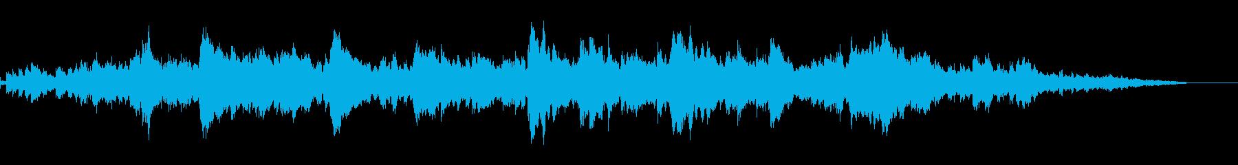 単音のピアノが奏でる悲しげな曲の再生済みの波形
