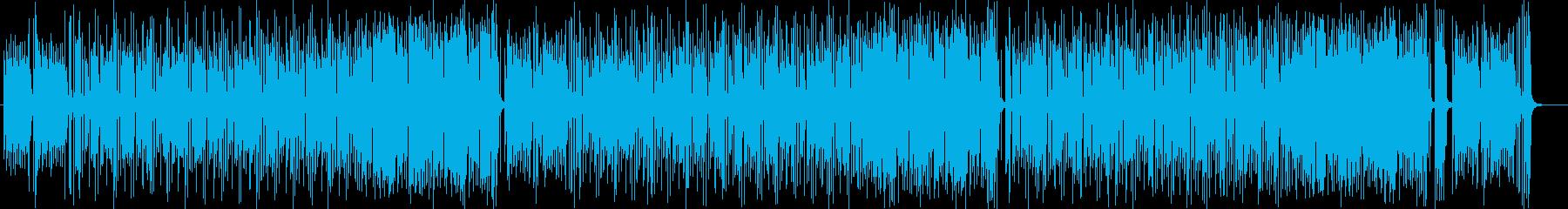 ミディアムテンポのコミカルなポップスの再生済みの波形