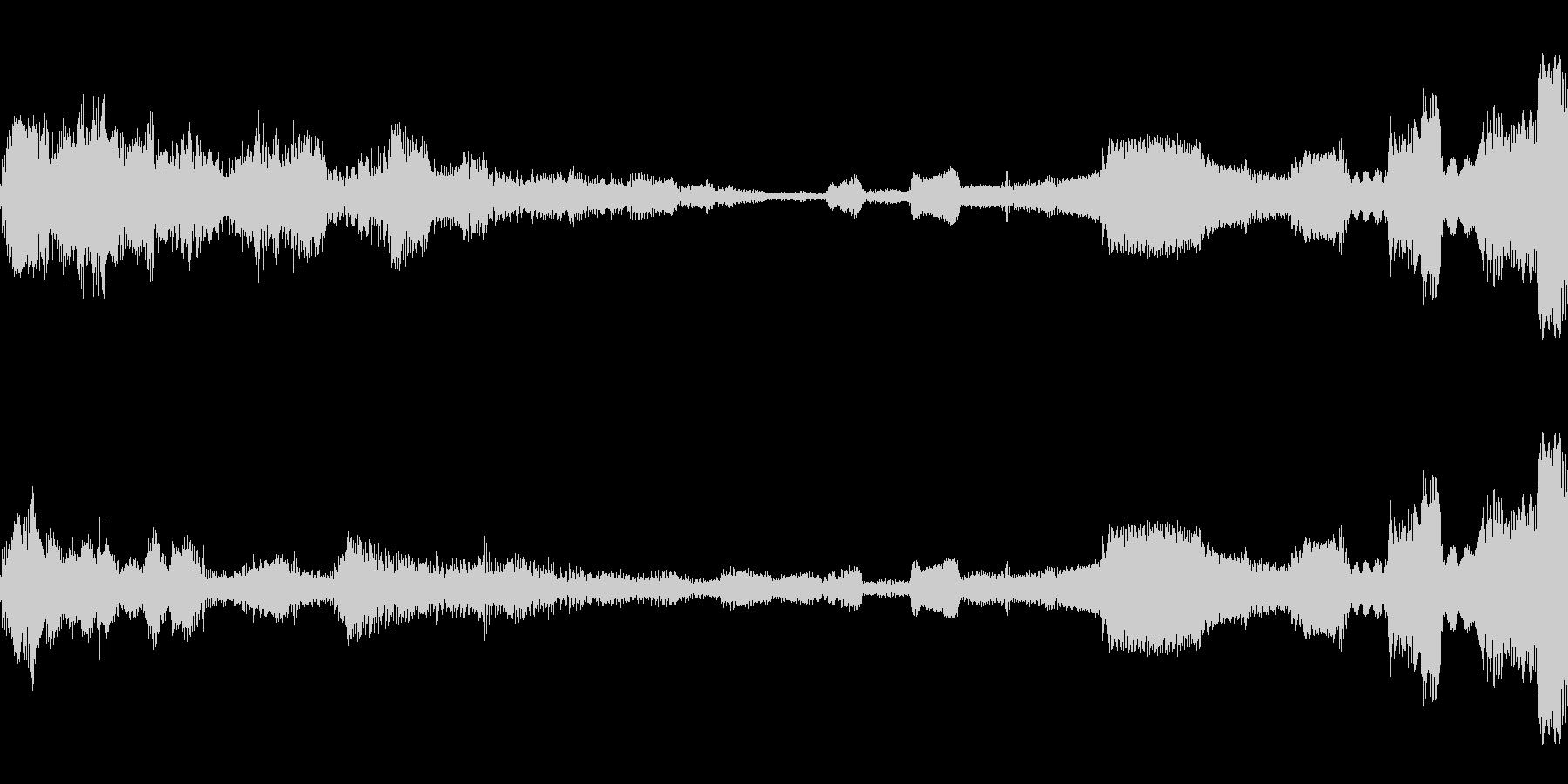 奇妙なランダムアルペジオの未再生の波形