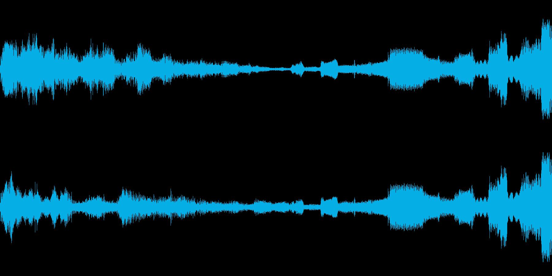 奇妙なランダムアルペジオの再生済みの波形