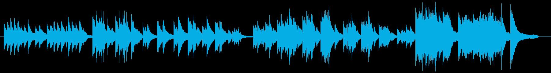おしゃれなピアノソロのクラシックの再生済みの波形