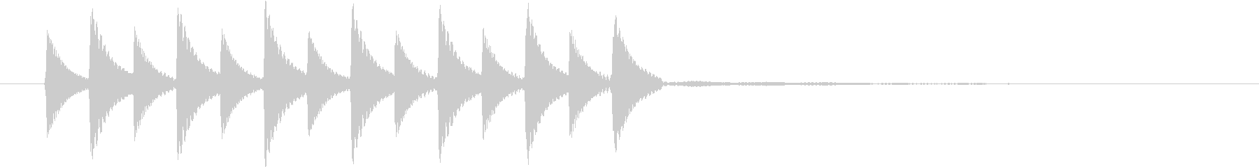 かわいらしいアラーム音の未再生の波形