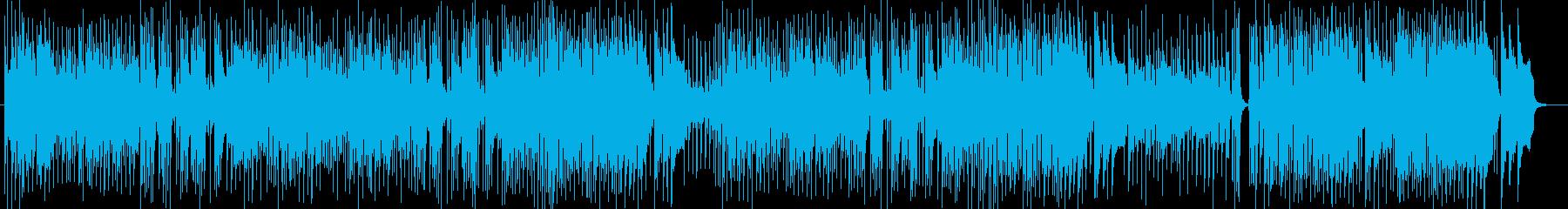 明るいBGM向けインストゥルメンタルの再生済みの波形