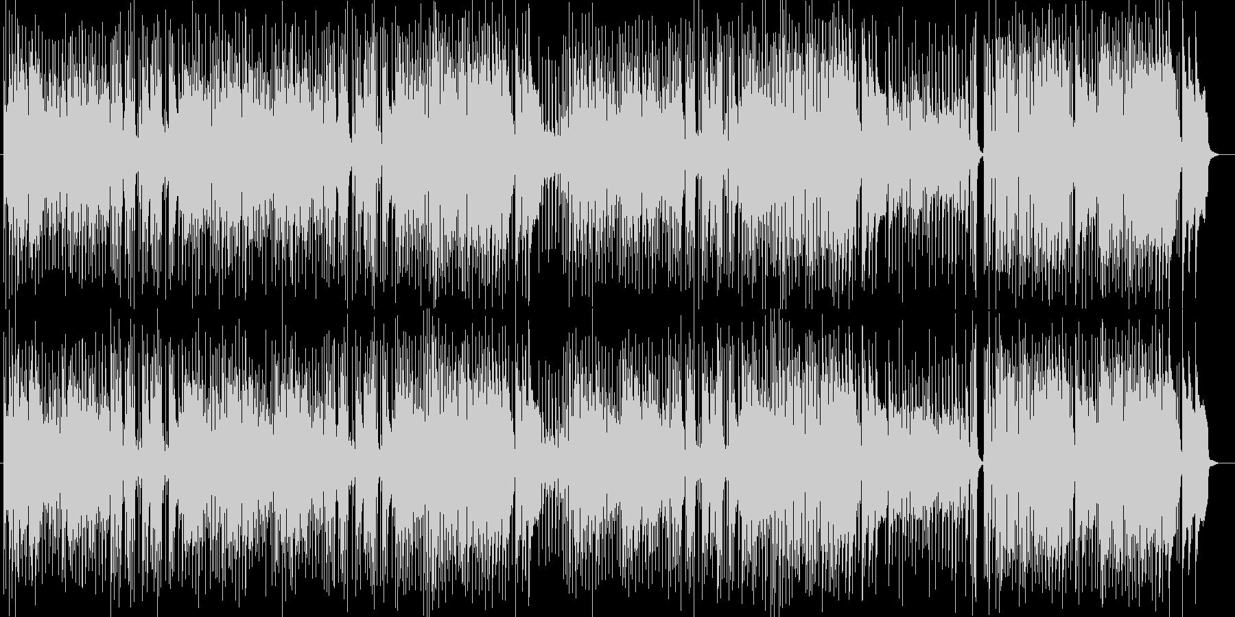 明るいBGM向けインストゥルメンタルの未再生の波形