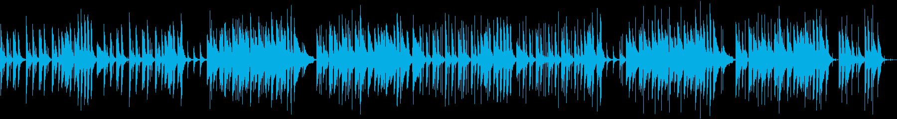 癒し系のピアノ曲の再生済みの波形