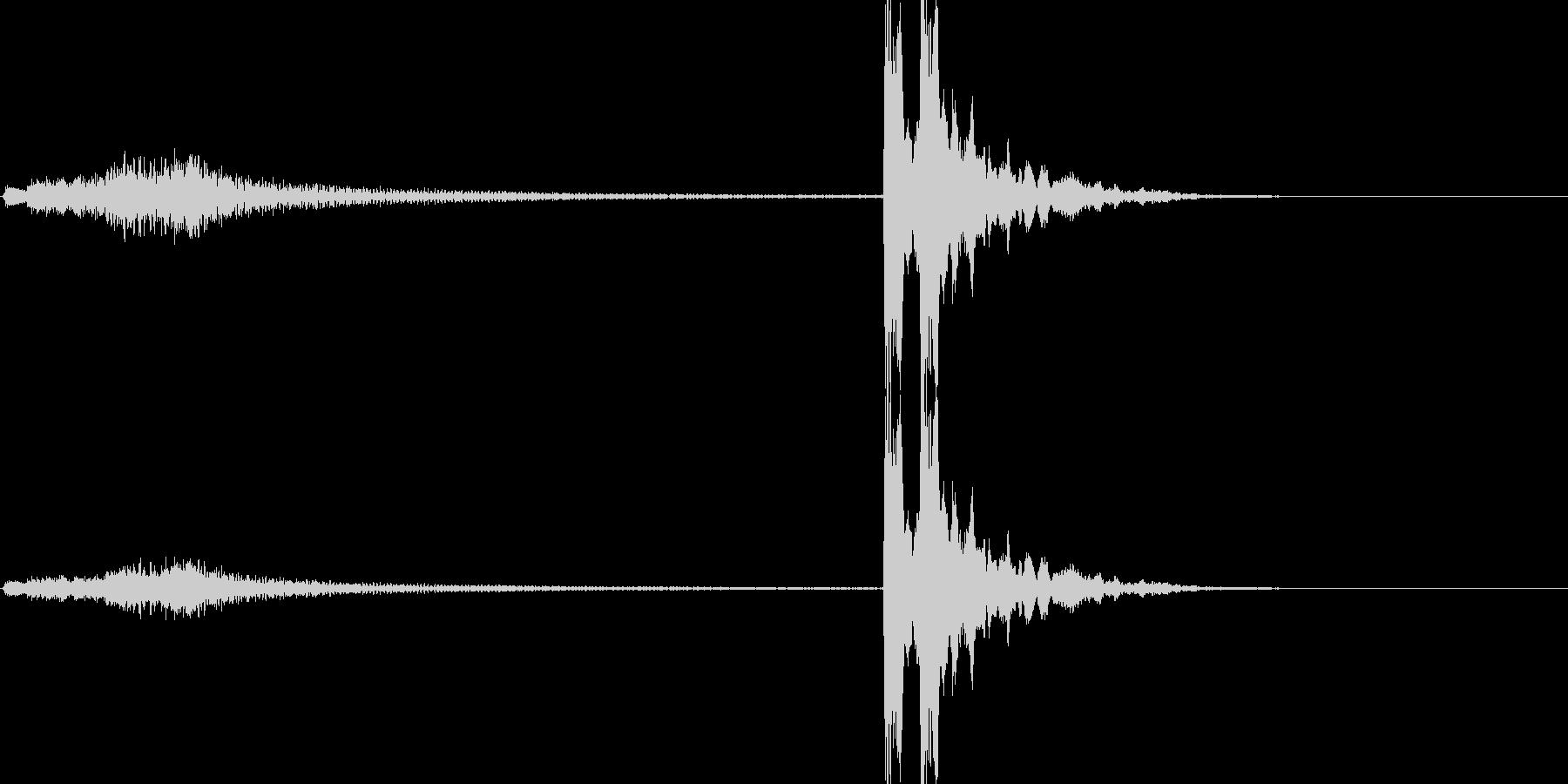 「シャララララン ポポン(琴と鼓)」の未再生の波形
