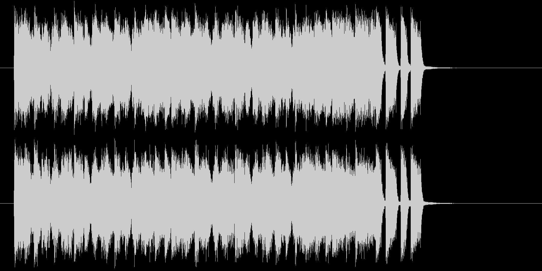 シンセとベースによるスウィングジャズの未再生の波形