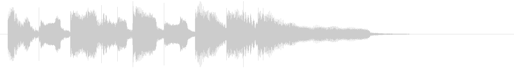 ほのぼのリコーダーの日常系アイキャッチの未再生の波形