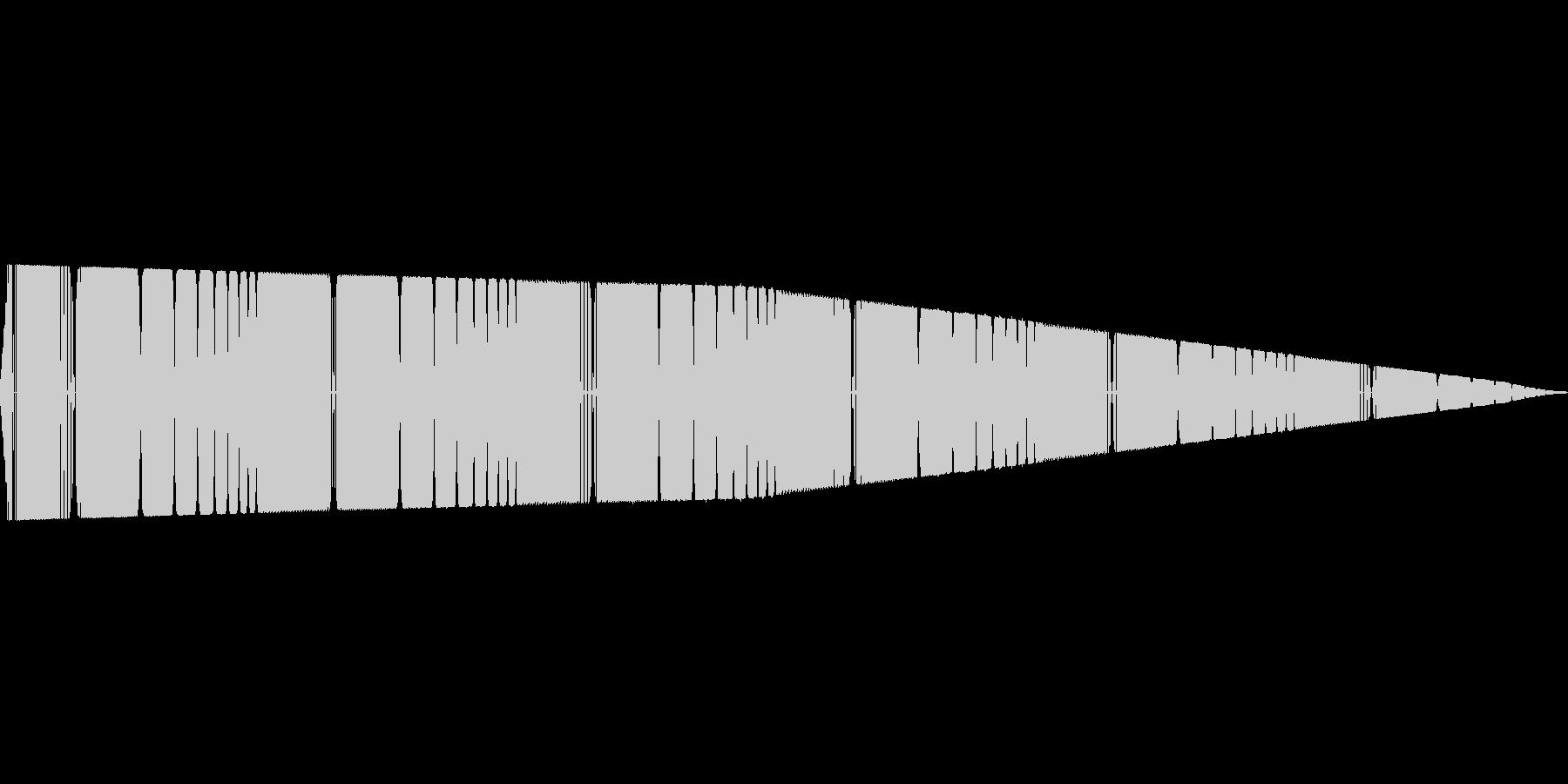 ピーピー(ピコピコ/警告/アラームの未再生の波形